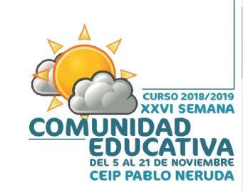 PROGRAMA DE ACTOS DE LA XXVI SEMANA DE LA COMUNIDAD EDUCATIVA
