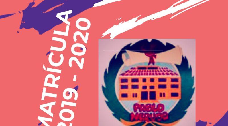 Inscripción del Alumnado de Nueva Matrícula CURSO 2019/2020
