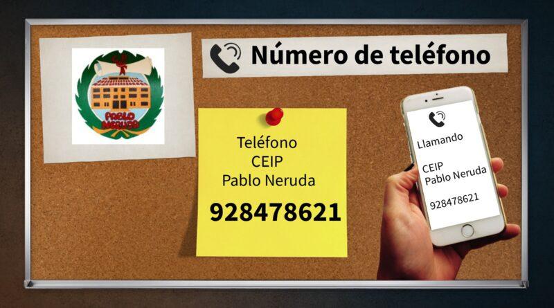NUEVO TELÉFONO DEL CEIP PABLO NERUDA