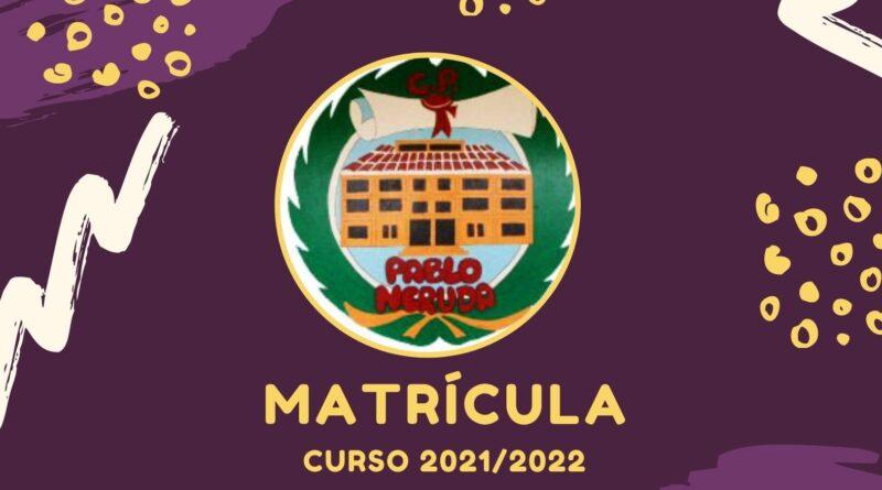 Matrícula curso 2021/2022 (tutorial y documentos)